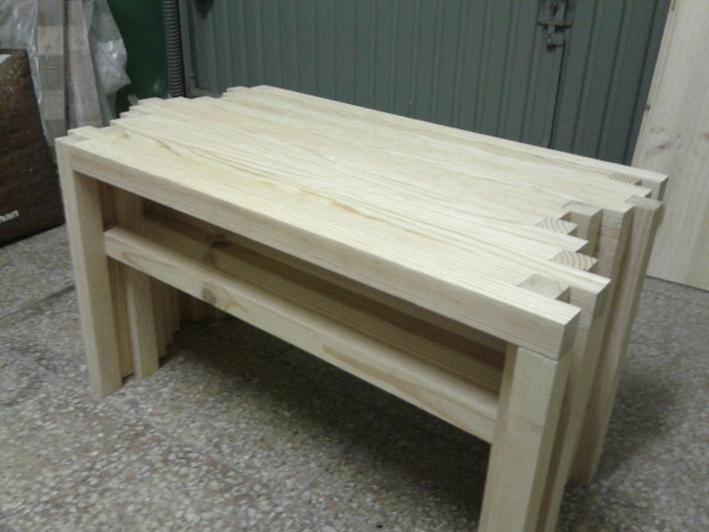 Table basse en pin massif - Mesa de Centro em pinho maciço