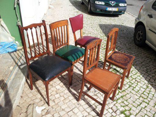 Restauro de um conjunto de cadeiras
