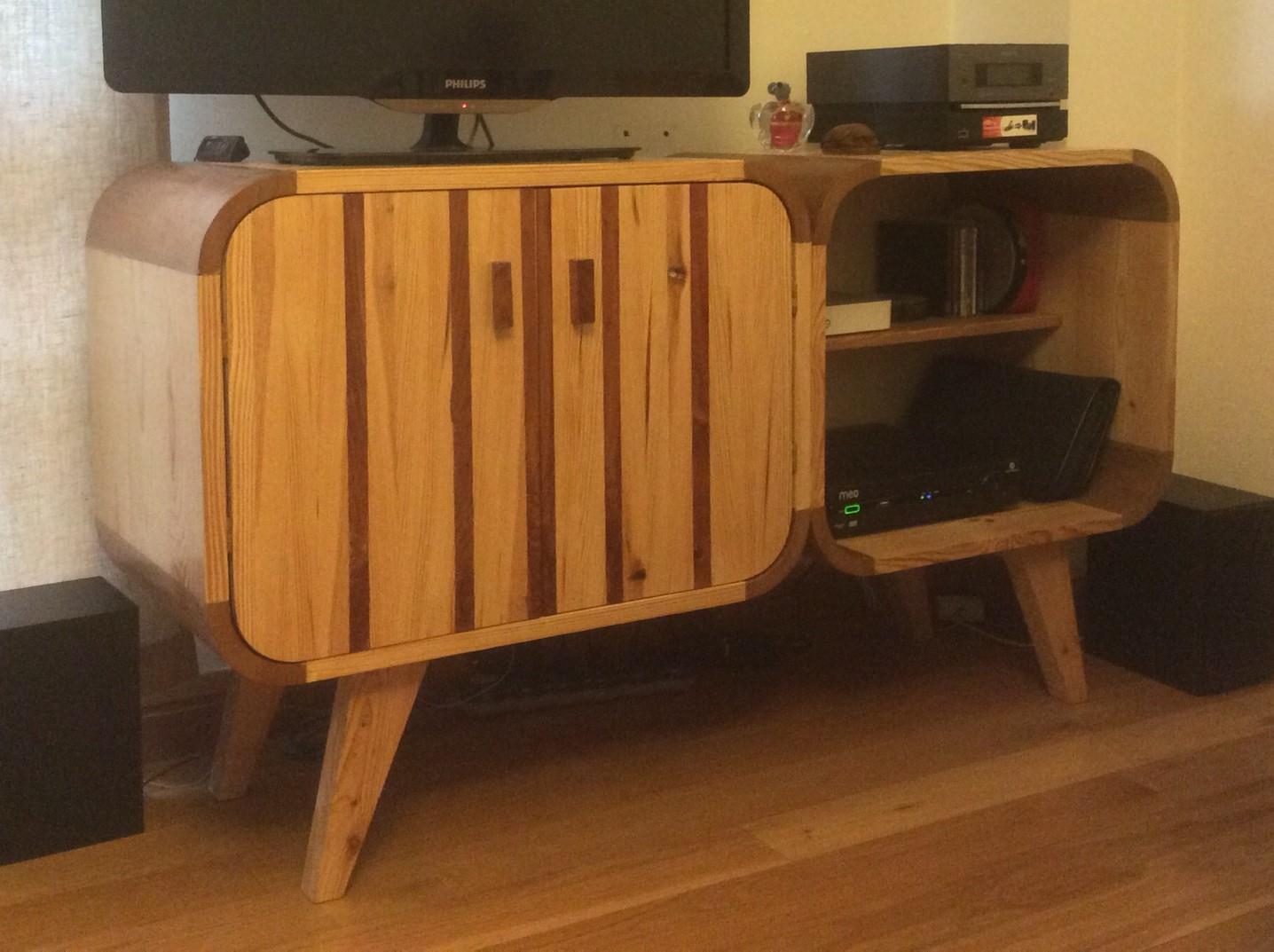Móvel retro multimedia - Meuble multimédia rétro, meuble tv