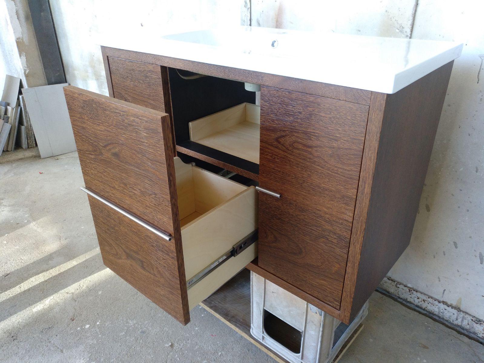 Móvel lavatório sucupira - Meuble sous-vasque en sucupira