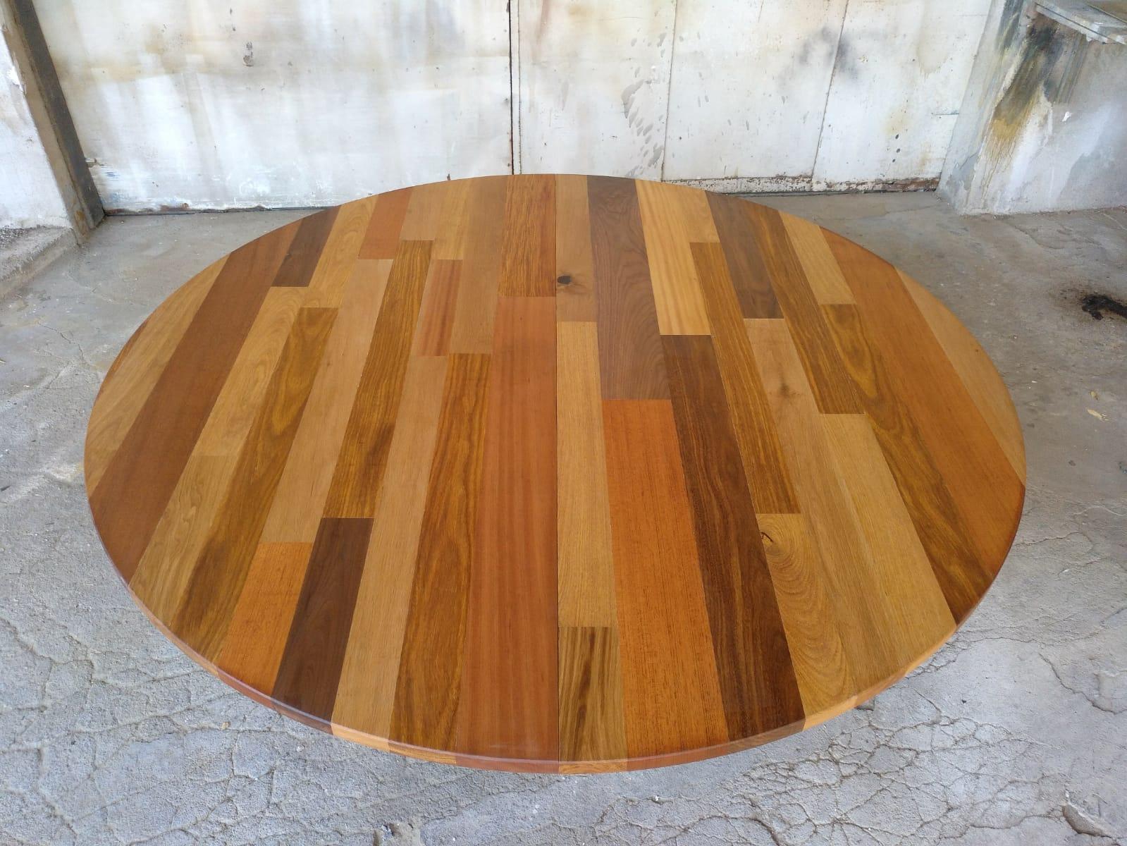 Mesa de jantar redonda - Table ronde multi-bois massifs